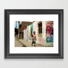 Woman in Guadalajara Framed Art Print