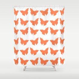 Coral Bold Mod Butterflies Shower Curtain