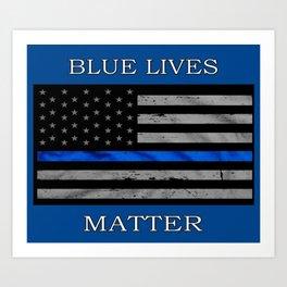Blue Lives Matter Art Print