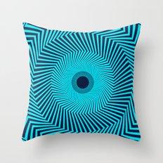 Circular Optical Illusion Throw Pillow