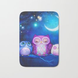 NIGHT OWLS Bath Mat