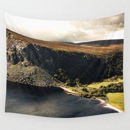 Irish Black Water - Lough Tay Wall Tapestry
