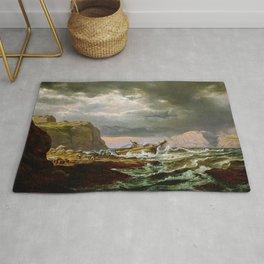 Johan Christian Dahl Shipwreck on Coast Norway Rug