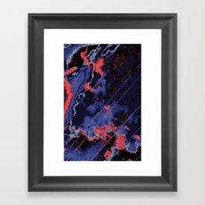 Glitch Cartography #1 Framed Art Print