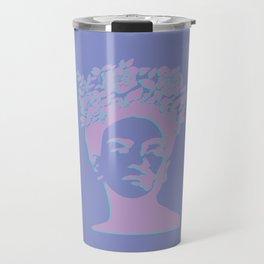 frida kahlo (purple version) Travel Mug