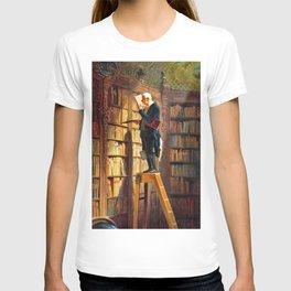12,000pixel-500dpi - The Bookworm - Carl Spitzweg T-shirt