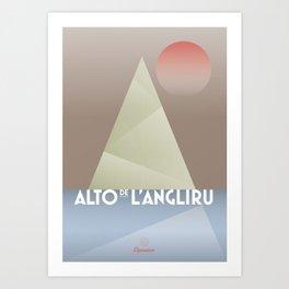 Alto de L'Angliru / Cycling Art Print