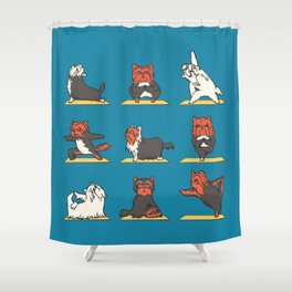 Yorkshire Terrier Yoga Shower Curtain
