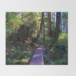 Trail to the beach, Tofino BC Throw Blanket