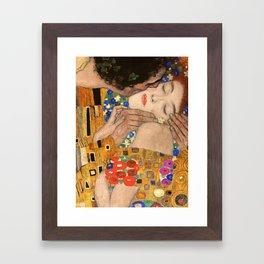 Gustav Klimt The Kiss, 1907 detail Framed Art Print