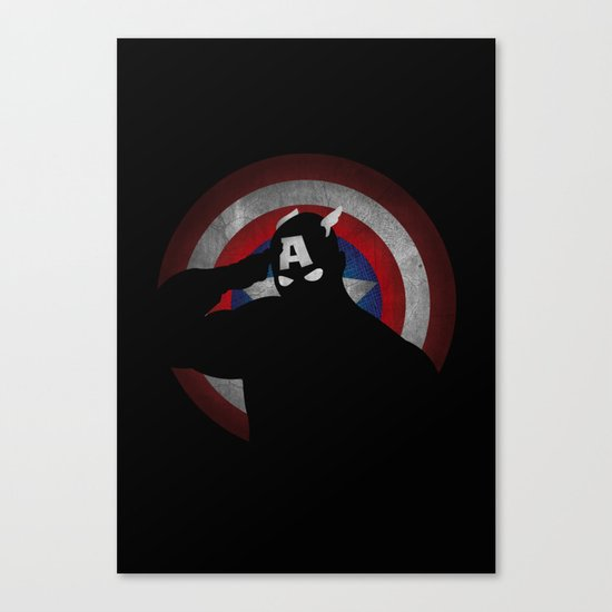 SuperHeroes Shadows : Captain America Canvas Print