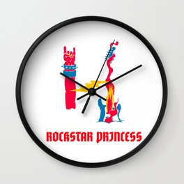 rockstar princess for people who like to rock and roll  Wall Clock