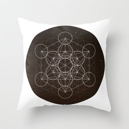 Metatrons Cube Is Out Of Space Throw Pillow