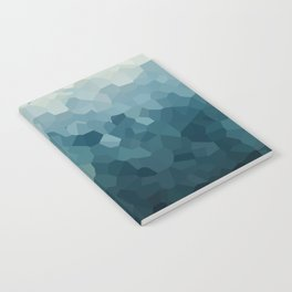 Ice Blue Mountains Moon Love Notebook