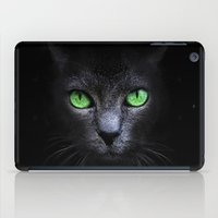 black cat iPad Cases featuring Black Cat by Sitchko Igor