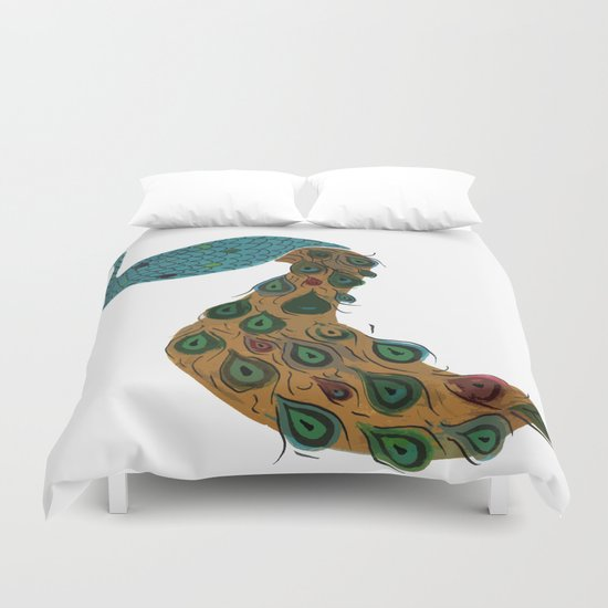 Florence the Peacock Duvet Cover