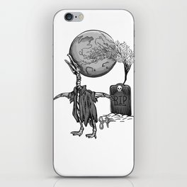 Penguin Zombie -Black and white iPhone Skin