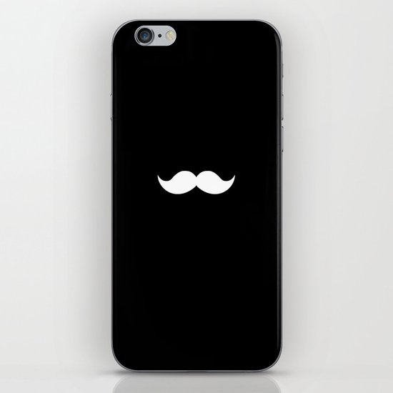 black mustache iPhone & iPod Skin