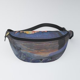 Mountain Sunrise after Fishing nautical landscape painting by Marianne von Werefkin Fanny Pack