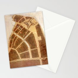 Vintage Map of New Amsterdam (1660) 2 Stationery Cards