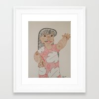 lilo and stitch Framed Art Prints featuring Lilo by Julia