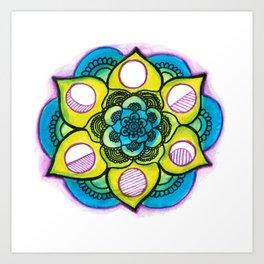 Mandala out of f-cks. Art Print