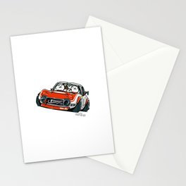 Crazy Car Art 0136 Stationery Cards