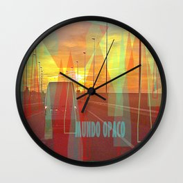 Opaque world Wall Clock