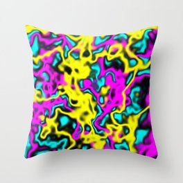 CYMK Throw Pillow