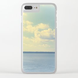 Clear Blue Sky Clear iPhone Case