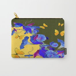 Yellow-Sage Color Yellow Butterflies Blue Morning Glories Art Carry-All Pouch