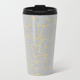 Ab Outline Gold and Grey Metal Travel Mug