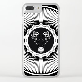 Art Nouveau Flower Clear iPhone Case