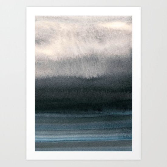 behind the fog Art Print