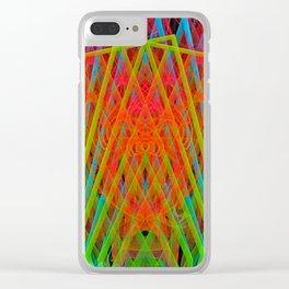 A Psychedelic Hand of Cards Clear iPhone Case