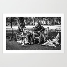 Life on the bench Art Print