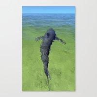 shark Canvas Prints featuring shark by nonono