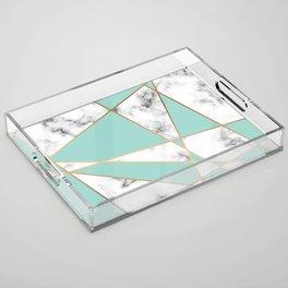 Marble Geometry 055 Acrylic Tray