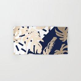 Simply Tropical Nautical Navy Memphis Palm Leaves Hand & Bath Towel