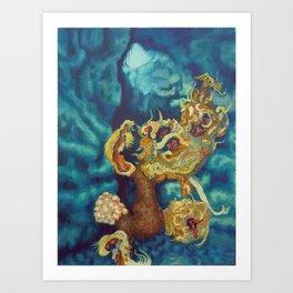 Wilting in Winter Art Print