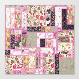 Quilt patterns style Canvas Print
