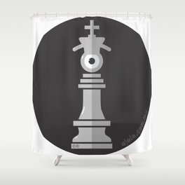 king eye b&w Shower Curtain