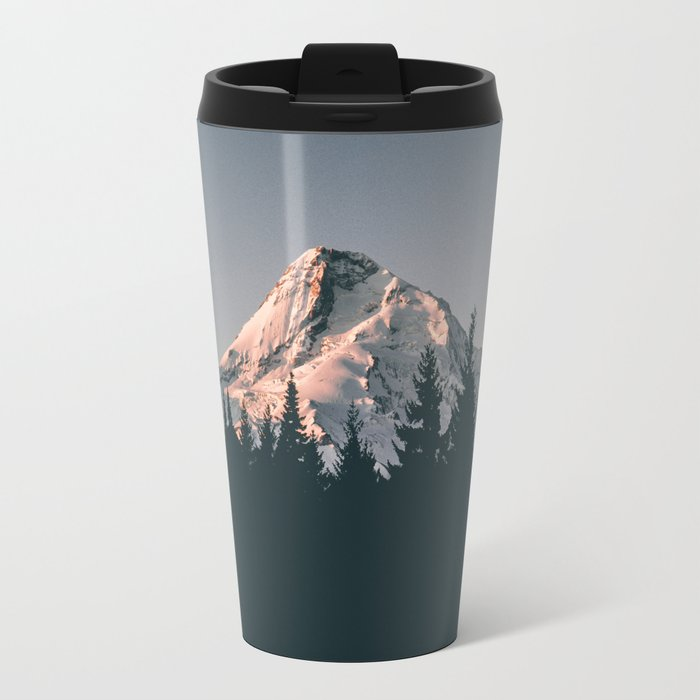 First Light on Mount Hood Travel Mug