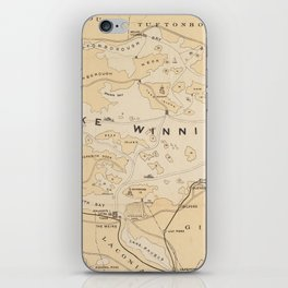 Vintage Map of Lake Winnipesaukee (1896) iPhone Skin