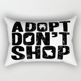 Adopt Don't Shop Rectangular Pillow