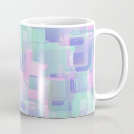 Abstraction. Pink and blue brush strokes. Coffee Mug