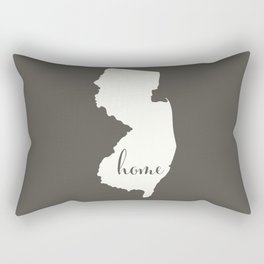 New Jersey is Home - White on Charcoal Rectangular Pillow