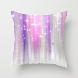 lights curtain a Throw Pillow
