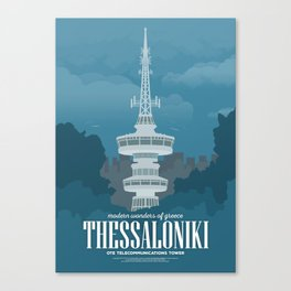 Thessaloniki, Telecommunications Tower (GR) Canvas Print