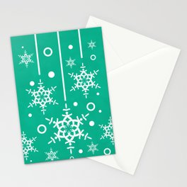 Let it Snow...(Emerald) Stationery Cards